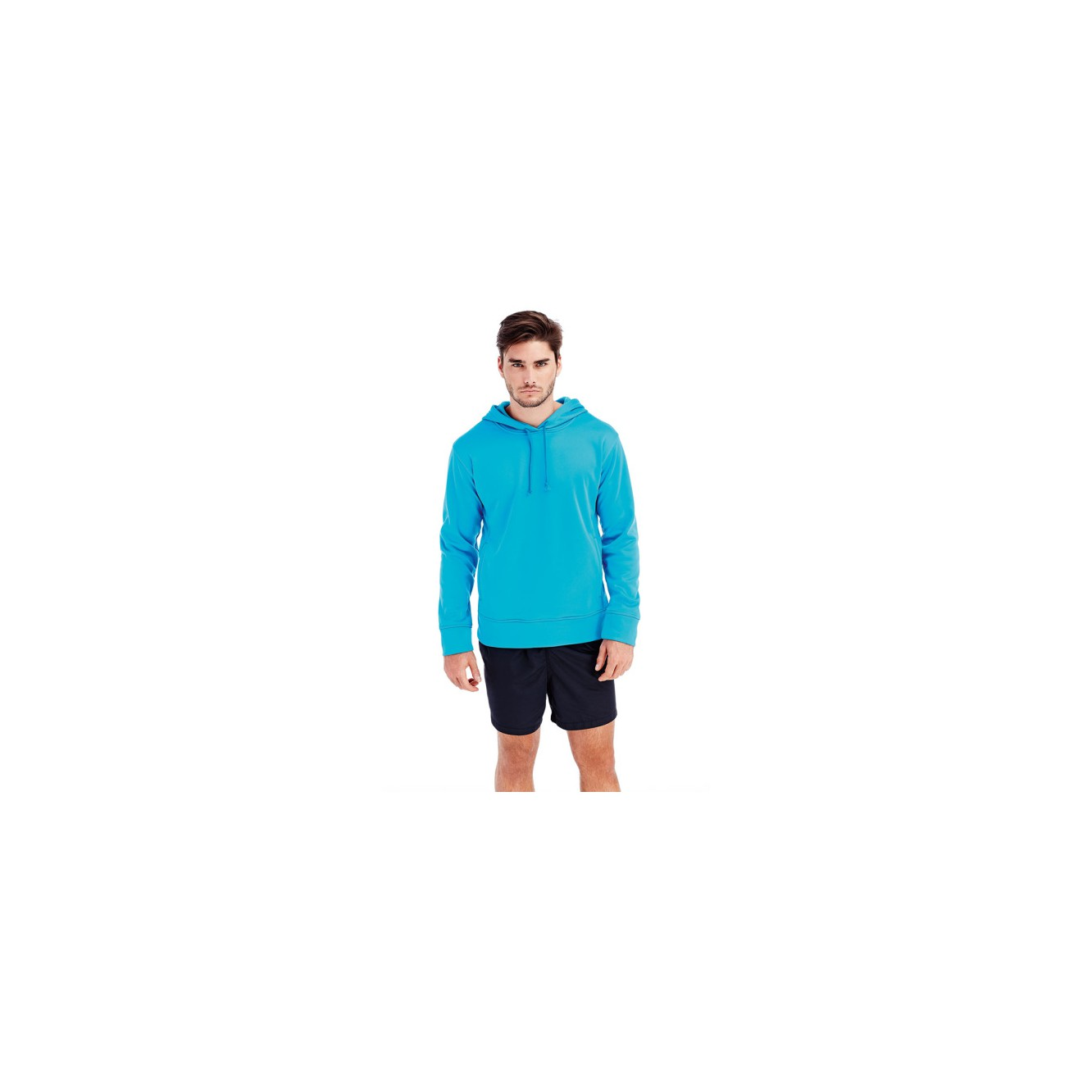 Polar fleece bonded hood