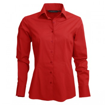 Shirt poplin mix LS for her
