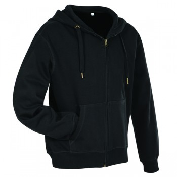 Sweater hood zip active for him