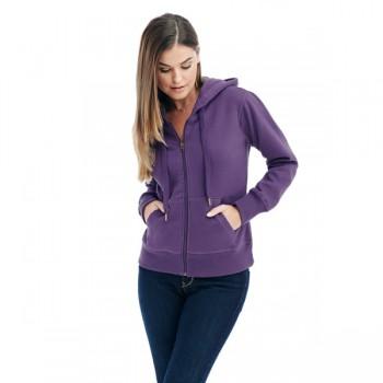 Sweater hood zip active for her