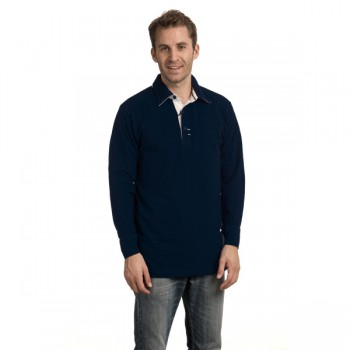 Polo cot/elst ls for him