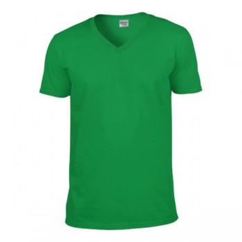 T-shirt softstyle v-hals