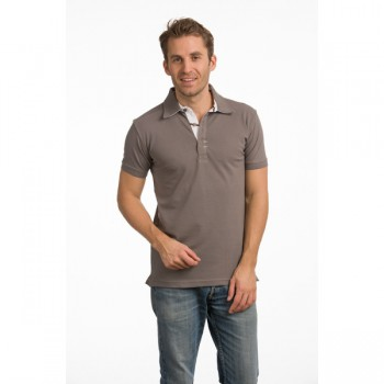 Polo cot/elst ss for him