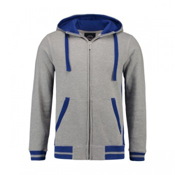 Sweater hooded cardigan for him