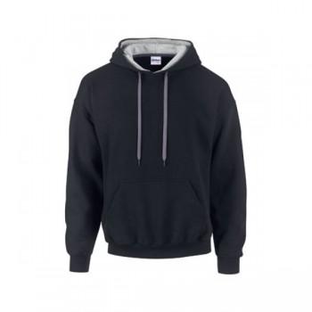 Sweater contrast hood heavyblend