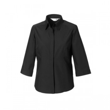 Fitted poplin shirt ladies 3/4 M