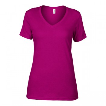 T-shirt featherweight v-neck ss for her