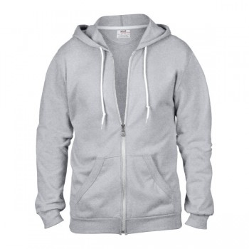 Hooded zip sweater for him