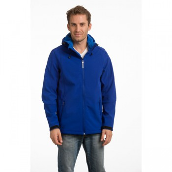 Jacket hooded softshell for him