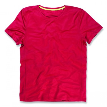 T-shirt set-in mesh active-dry ss