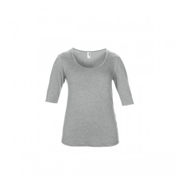 T-shirt triblend deep scoop 3/4 sleeve